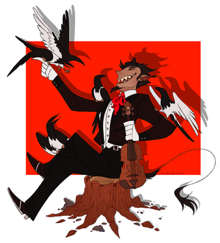 The Devil likes Magpies by CremexButter
