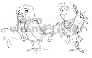Birds Scketch by joaobw