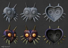 Majoras Mask real-time render by Svartluder