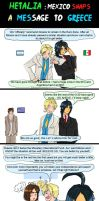 Hetalia Mexico Snaps a message to Greece by chaos-dark-lord