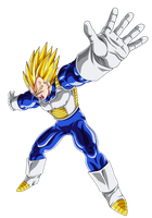 Vegeta -final flash upcoming- by EmiyanSaiyan