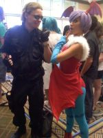Lilith and Wesker by tinypurplewings