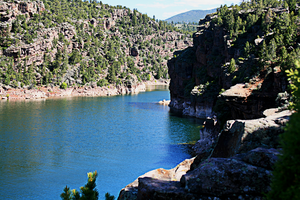Flaming gorge by the dam by Torqie