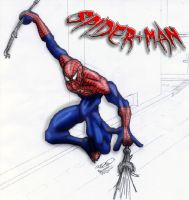 spidey sketch and color by ajb3art
