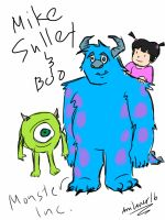 Mike, Sulley, and Boo - Monster, Inc. by AniLover16