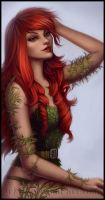 Poison Ivy Pin up by Sherwood-Art