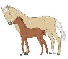 Mare and foal request 3 SOLD by Whiteout-Kennels