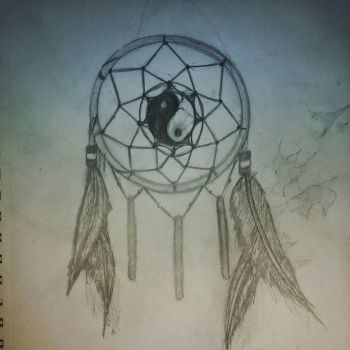 Ying and Yang Dreamcatcher by Wolf1226