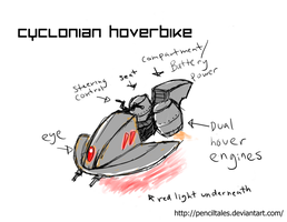Hoverbike design concept by PencilTales