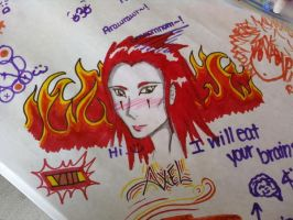 Axel Flurry of Dancing Flames by xCheshireGrin228