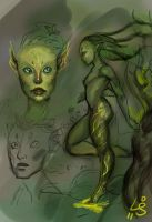 Sylvari Concepts 1 by kedemel