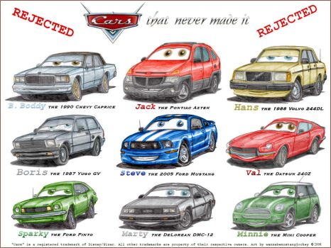 CARS that never made it by wannabemustangjockey