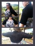 Kamelia - Lacy black bolero by KnitLizzy
