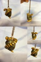 Striped snake necklace by SonsationalCreations