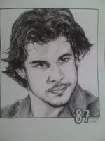 Sidney Crosby pen drawing by mjmaehem11