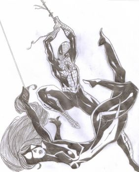 Spiderman and Spidergirl by Brunursus