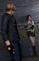 # in Raccoon City... by DemonLeon3D