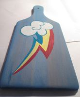 WIP Rainbow Dash paddle by user-name-not-found