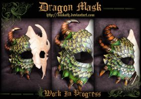 Dragon Mask : Work in progress 2 by Deakath