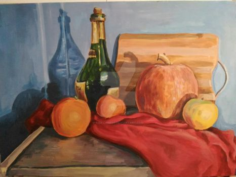 Still life with a pumpkin by TigaLioness