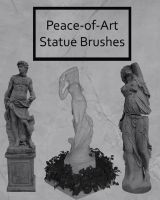 Statue Brushes by Peace-of-Art