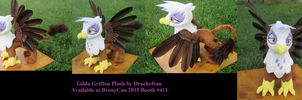 Feathered Gilda Griffon Plush by Drachefrau
