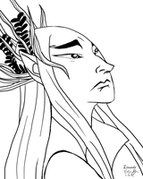 Day 5 - Thranduil by linzeda