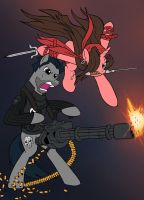 Ponified Punsiher and Elektra - Battlefront by edCOM02