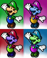 The Wonderful Colors of Luigi~ (wallpaper) by ShimmerTheVampfox