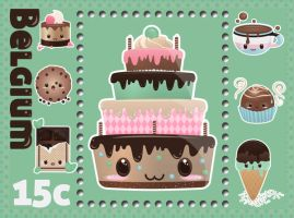 Chocolate Cake Master Stamp by InterGrapher