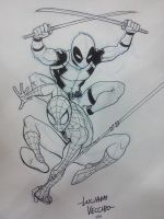 NYCC Commissions - Spider-Man and Deadpool by LucianoVecchio