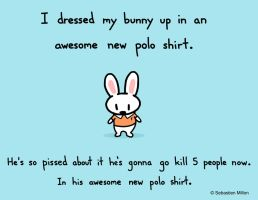Bunny in a Polo Shirt by sebreg