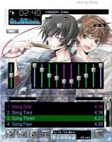Suzaku and Lelouch skin for Winamp 2# by R-u-n-a