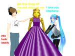 stephano in a dress by 2sidestome