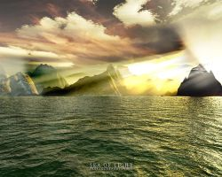 Terragen - Sea of Light by tigaer