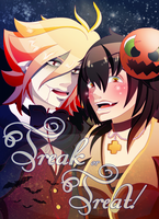 E.2 - Trick or Treat! by LilithGiroyami