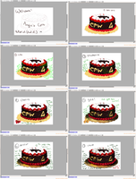Coloring cake tutorial by AterLux