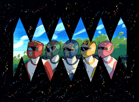 Power Rangers by Pocketowl