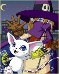 Gatomon and Wizardmon by Leen-galeas