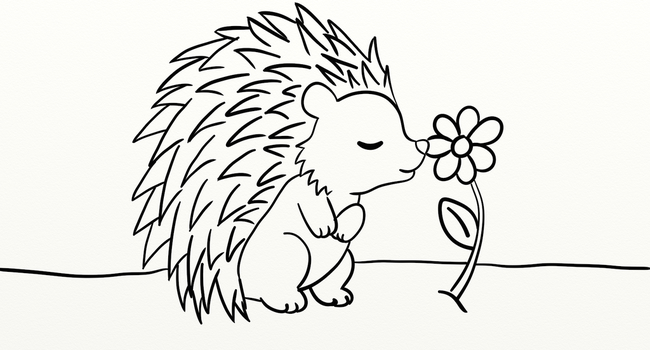 Hedgie Lineart by BrannaPants