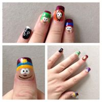 South Park Nails by BloodyBlackRoses26