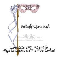 Butterfly Mask PSD File by briarmoon-stock