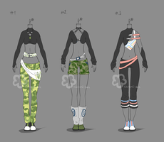 Some Outfit Adopts #14 - sold by Nahemii-san