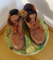 Chocolate Cake Boots by FifiCake