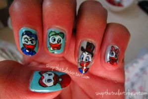 Disney Duck Tales Nails by swapthat