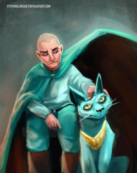 The Will and Lying Cat by SteveMillersArt