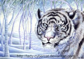 Tiger Forest Watercolor by lady-cybercat