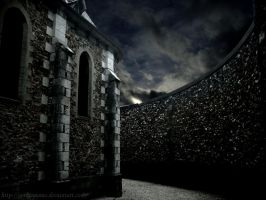 Dark Church stock background by Gothicmama