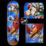 RASK super mario skateboard deck by rAskopticon