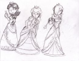 Smash Princesses by locomotive111